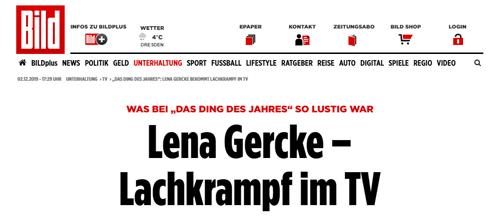 Bild Zeitung Lena Gercke Headline